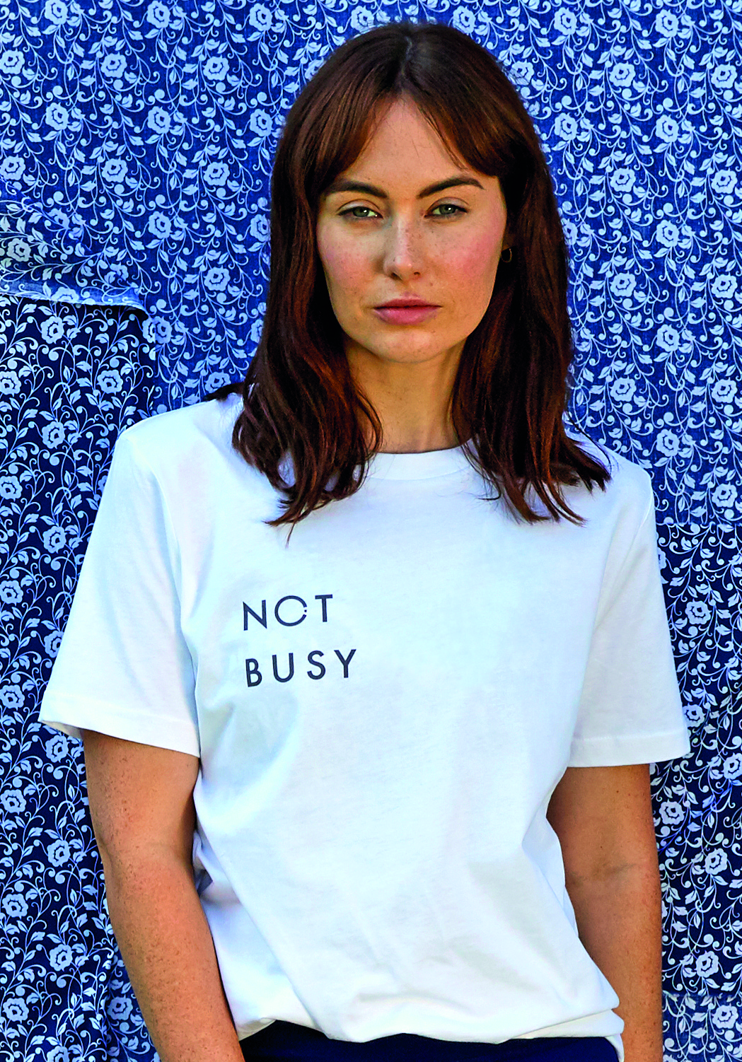 100% organic cotton slogan t-shirt white