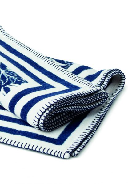 recycled brushed cotton wrap blanket throw towel navy floral