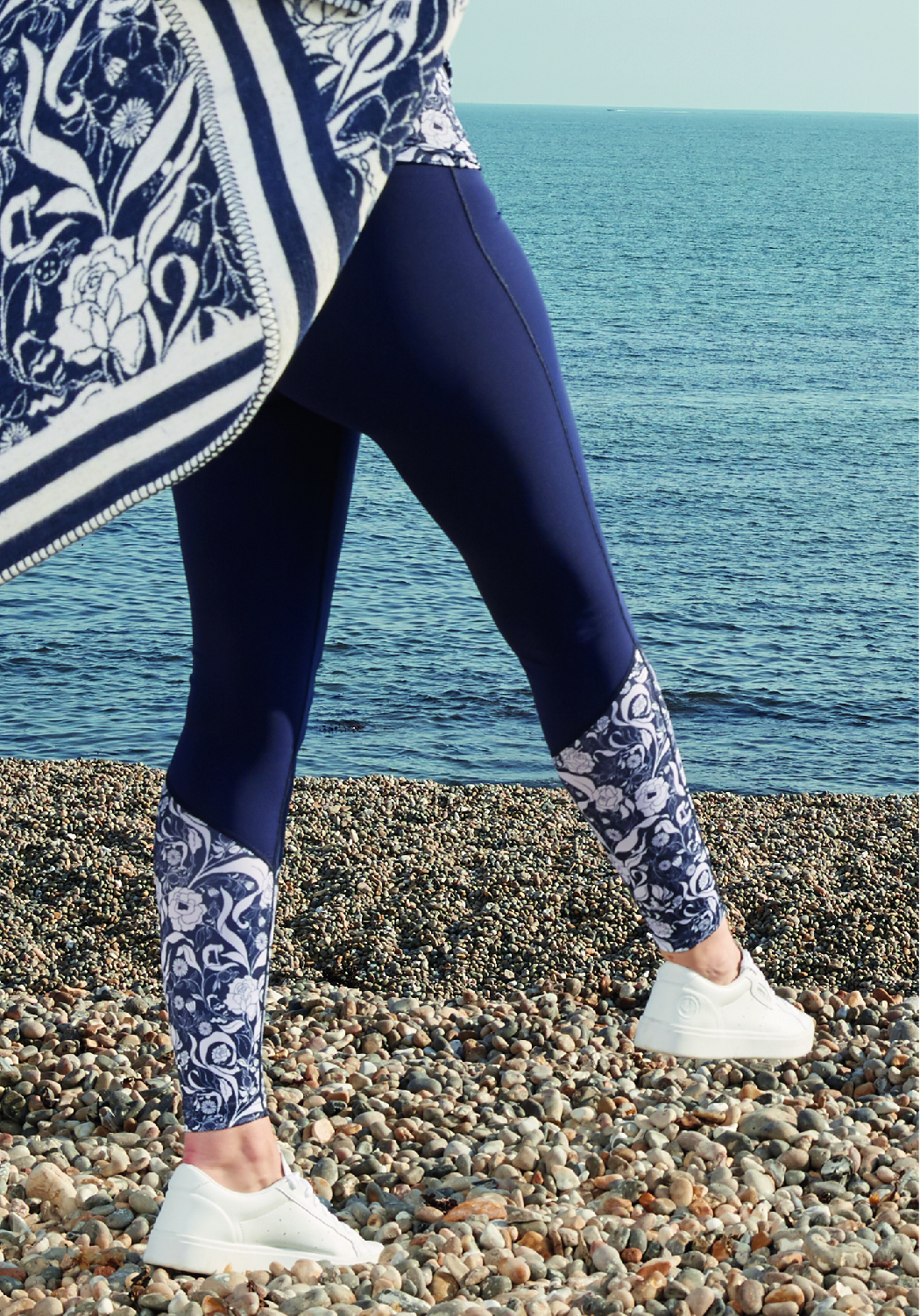 recycled high waist leggings navy navy floral